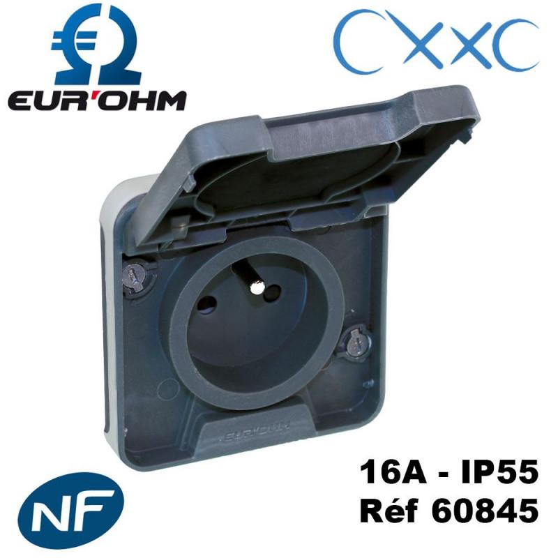 Prise 2P+T IP55 composable - OXXO Eurohm Eur'Ohm