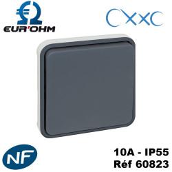 Bouton poussoir composable gris OXXO IP55