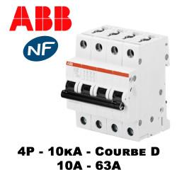 Disjoncteur tétrapolaire Courbe D 10KA ABB
