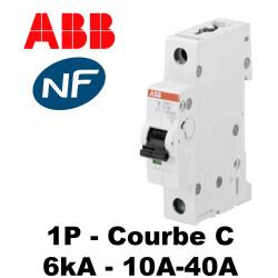 Disjoncteur unipolaire 6kA 1P C 10A à 40A ABB
