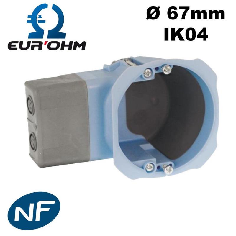 Boite pour micromodule airmétic 1 poste profondeur 40mm Eur'Ohm