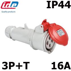 Prise triphas 16a 380v pour prolongateur tanche ip44 - Prise electrique angleterre ...