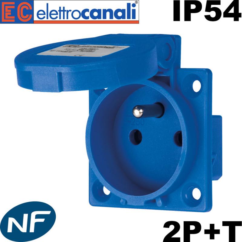 Prise à encastrer sur coffret étanche 16A 2P+T certifié NF