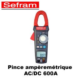 Pince ampèremétrique AC/DC 600A