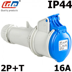 Prise femelle 2P+T 16A IP44