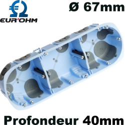 Boite AIRMETIC triple poste Ø67mm Eur'Ohm