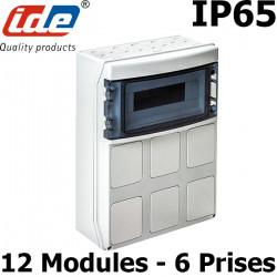 Coffret étanche IP65 pour prises industrielles - À composer 2 à 8 prises IDE