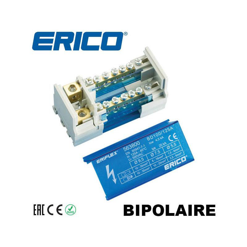 Répartiteur bipolaire 125A de 6 à 14 entrées IDE