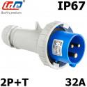 Prise CEE Male 2P+T 32A IP44 ou IP67 IDE