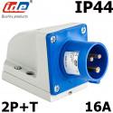 Socle male prise CEE 16A 2P+T étanche IP44 ou IP67 IDE