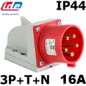 Socle male en saillie 16A 3P+T+N 380V IP44/67 IDE