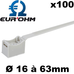 Attache pour tube IRO (embase et collier fixation tube IRO)