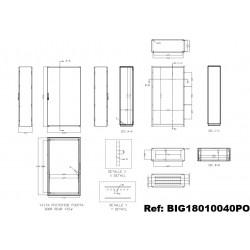 Armoire IDE Argenta plus BIG simple porte IP65 IDE