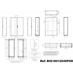 Armoire industrielle IDE Argenta plus BIG IP55 Double porte IDE
