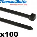 Collier attache câble électrique noir Thomas & Betts