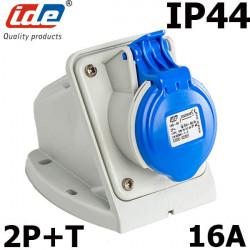 Socle prise européenne CEE 2P+T 16A étanche IP44