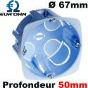 Boitecloison sèche profondeur 50mm Eurohm