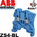 Borne de jonction Entrelec Bleu SNK à vis 4mm² - ZS4-BL - 1SNK505020R0000
