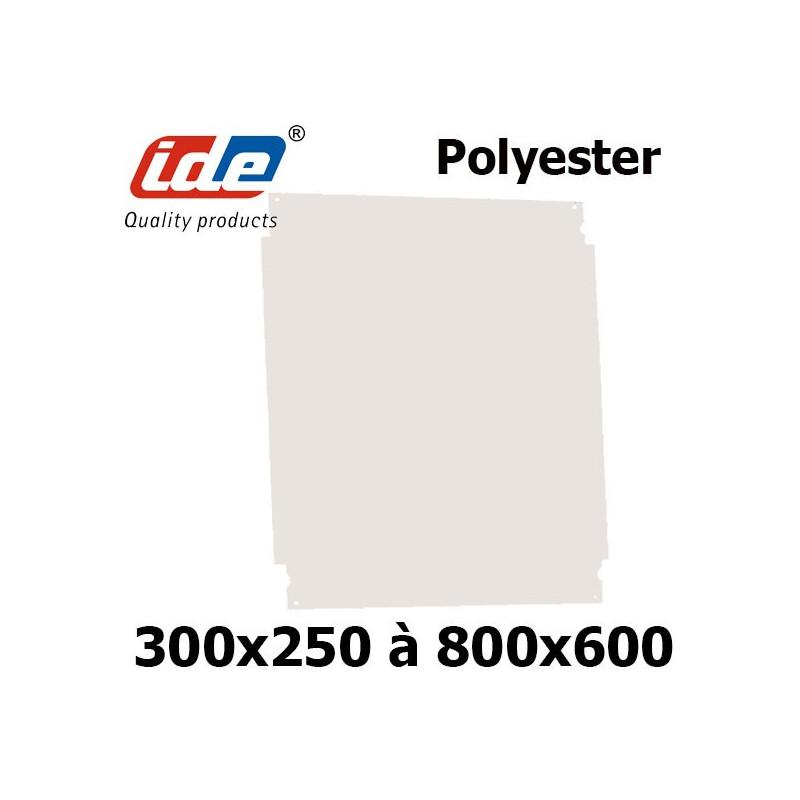 Plaque de montage en polyester pour coffret IDE en polyester