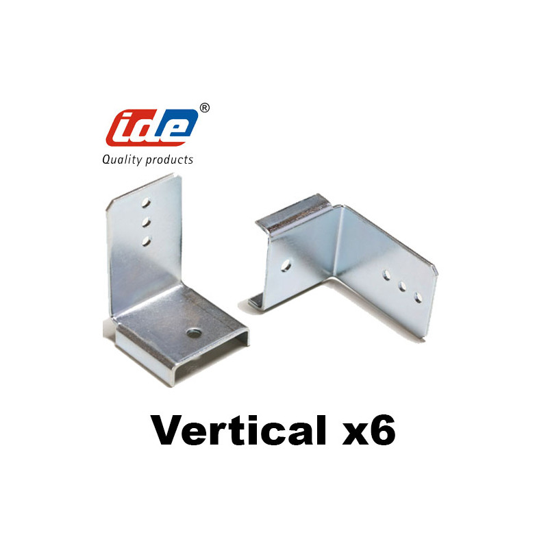 Support goulotte cablage vertical (6 pièces) IDE
