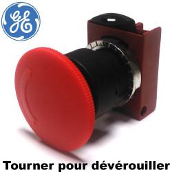 Bouton d'arrêt d'urgence complet (tourner pour déverouiller) General Electric