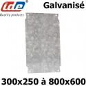 Plaque en acier galvanisé pour coffret polyester IDE IDE