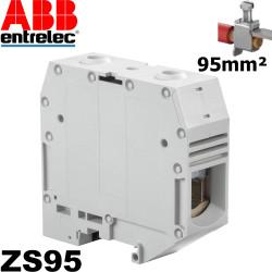 Borne à vis Entrelec grise ZS95 pour section 95mm² - Ref ABB 1SNK526010R0000