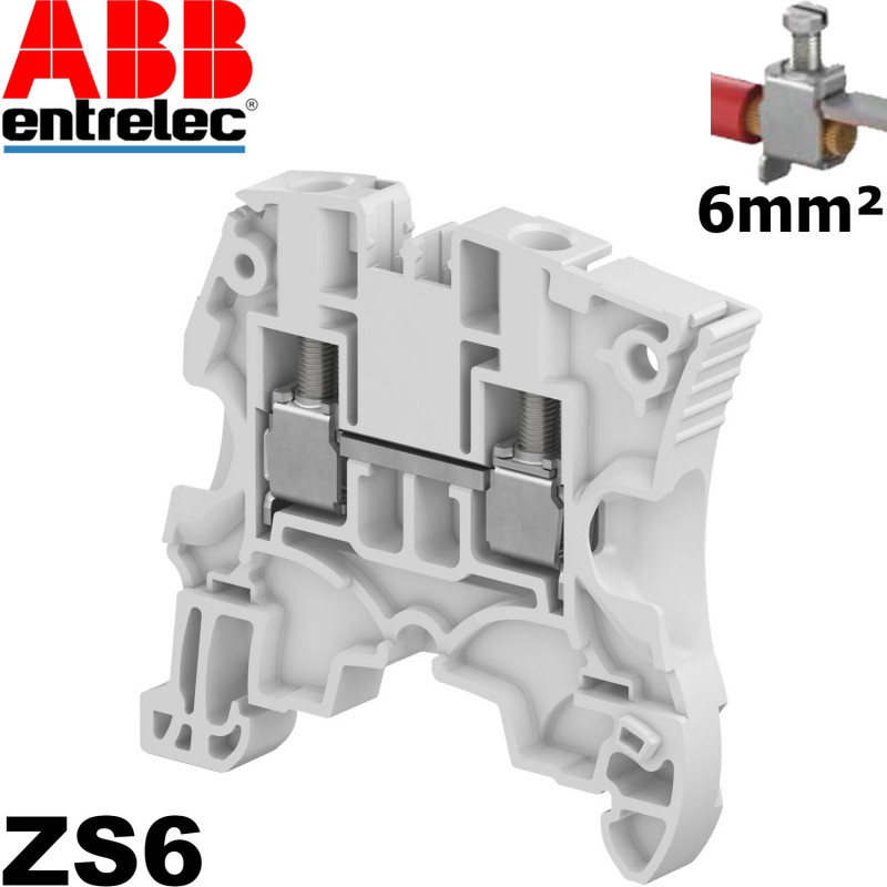 Bloc de jonction Entrelec ABB ZS6 à vis Entrelec