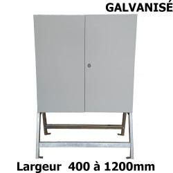 Support métallique galvanisé pour armoire électrique