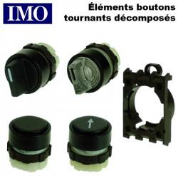 Elements de boutons tournants 2 et 3 positions DECOMPOSES