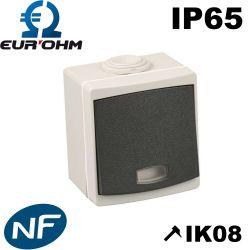 Interrupteur étanche IP65 avec témoin lumineux
