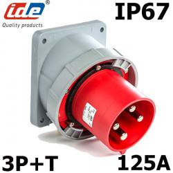 Prise male à encastrer 3P+T 125A IP67 IDE