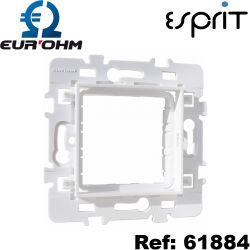 Adaptateur module 45x45 Blanc Esprit Eurohm