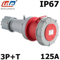 Fiche femelle triphasé 3P+T 125A IP67