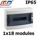 Coffret électrique étanche IP65 IDE Ecology 18 modules sur 1 rangée
