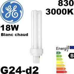 Ampoule Fluo G24-d2 General Electric Biax D 2 broches  General Electric