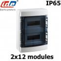 Coffret électrique étanche IP65 IDE Ecology 24 modules sur 2 rangées