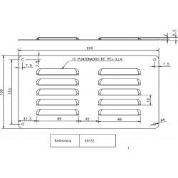 Grille de ventilation pour armoire électrique IDE
