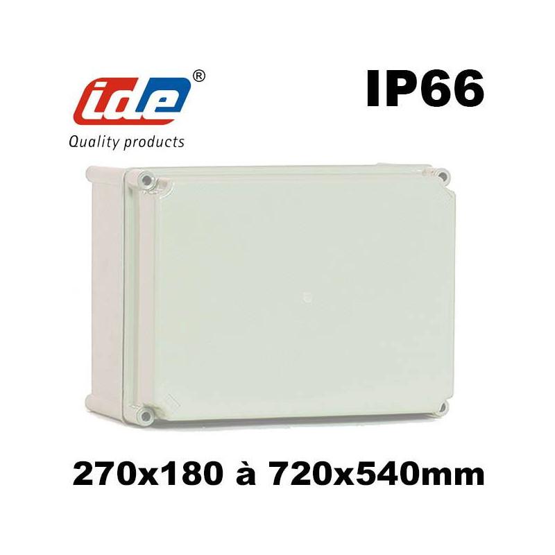 Boitier en polyester étanche IP66 fixation murale ou poteau - ROC IDE IDE