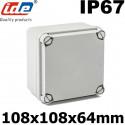Boitier électrique étanche IP67 forme carrée 100x100