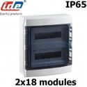 Coffret électrique étanche IP65 IDE Ecology 36 modules sur 2 rangées