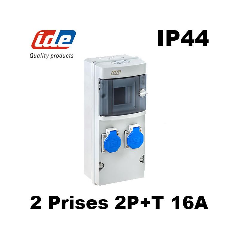 Coffret d'atelier étanche IP44 avec 2 prises 2P+T 16A IDE