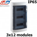 Coffret électrique étanche IP65 IDE Ecology 36 modules sur 3 rangées