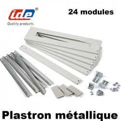 Kit Rail DIN + Plastron modulaire métallique pour armoire électrique ATLANTIC