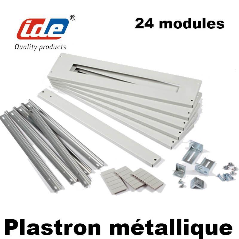 Kit Rail DIN + Plastron modulaire métallique pour armoire électrique ATLANTIC IDE