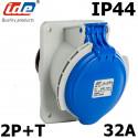 Socle de tableau 32A 2P+T étanche IP44
