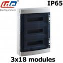 Coffret électrique étanche IP65 IDE Ecology 54 modules sur 3 rangées