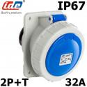 Socle de tableau 32A 2P+T étanche IP67