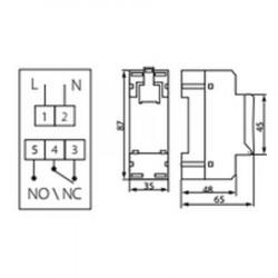 Interrupteur horaire programmable 16A avec fonction astronomique Kanlux