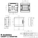 Coffret électrique étanche IP65 IDE Ecology 8 modules